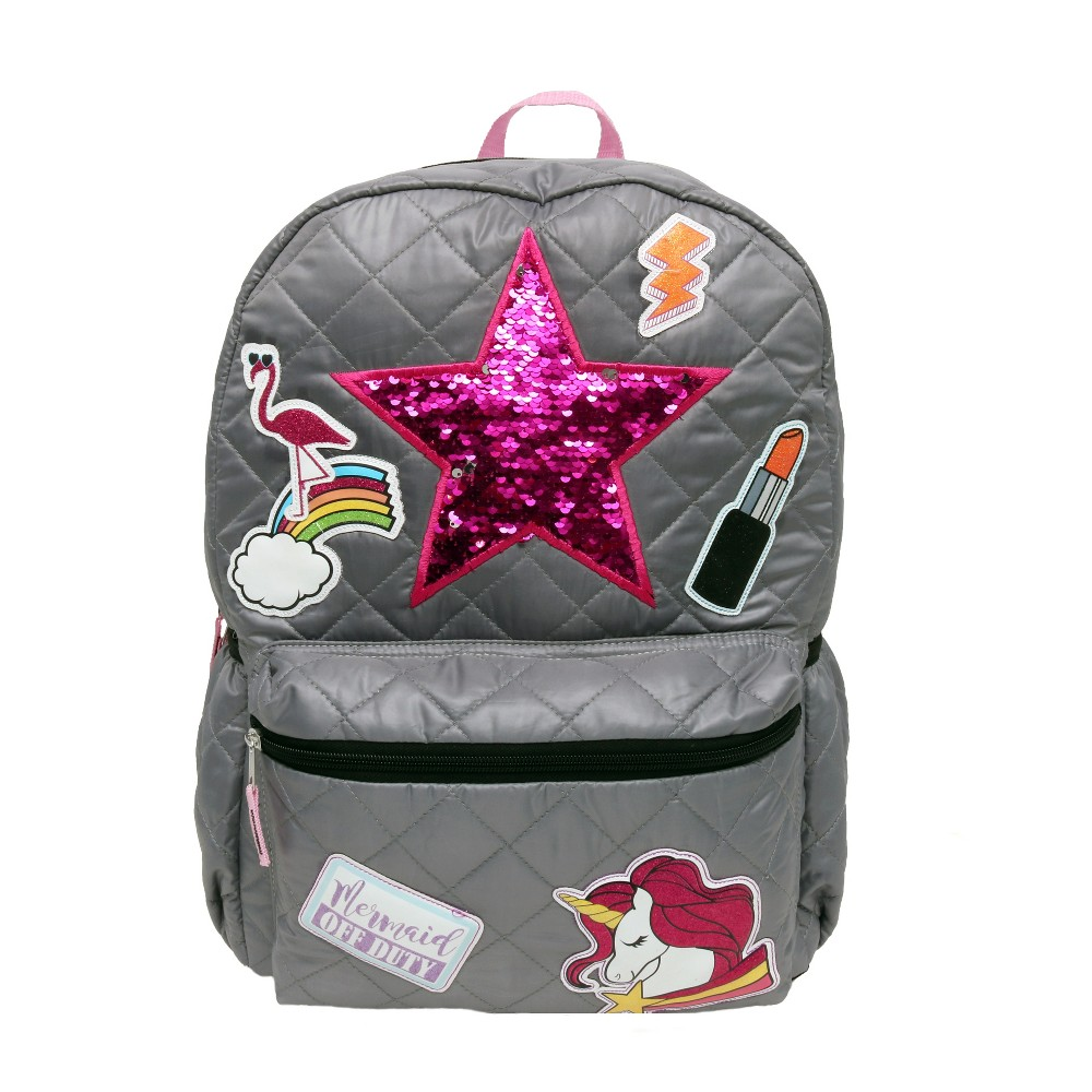 Fashion 17 Patch It Up! Shine On Backpack - Gray