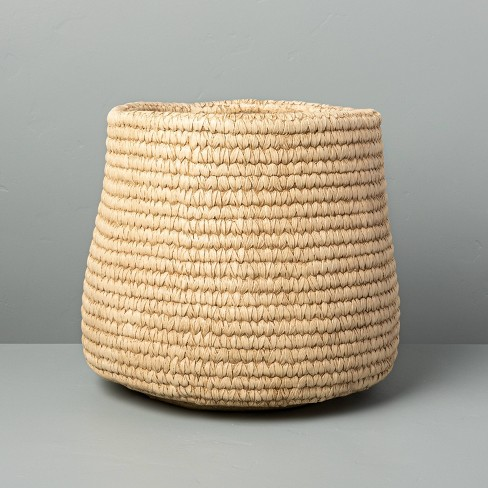 Indoor/Outdoor Concrete Basket Planter - Hearth & Hand™ with Magnolia - image 1 of 4