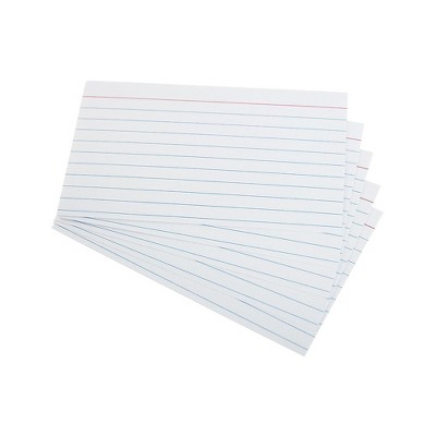 """Staples Heavyweight Ruled 3"""" x 5"""" Index Cards White 100/Pack TR51013"""