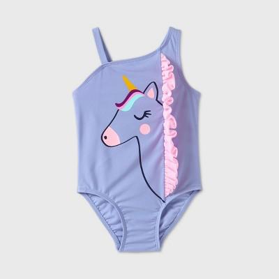 Toddler Girls' Unicorn One Piece Swimsuit - Cat & Jack™ Purple