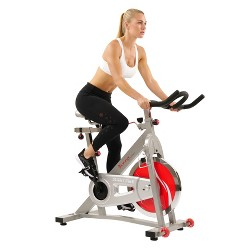 Sunny Health and Fitness (SF-B901B) Belt Drive Pro Indoor Cycling Bike - Gray