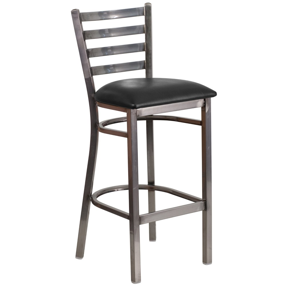 Riverstone Furniture Collection Leather Ladder Stool Seat Clear