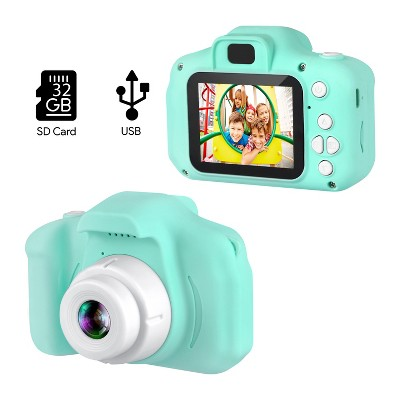 """Dartwood Digital Camera for Kids - 2"""" Color Display Screen, 1080p 3-Megapixels, Micro-SD Card Slot - Perfect Gift for Children (32GB SD Card Included)"""