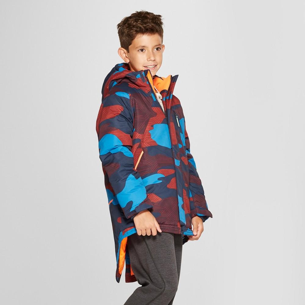 Boys' Camo Print Parka Jacket – C9 Champion Navy Xxl, Blue
