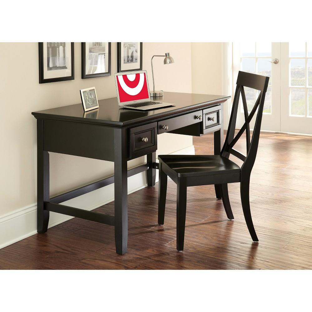 Lola Desk and Chair Set - Black
