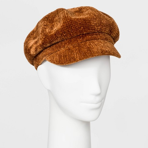 Women's Chenille Newsboy Hat - A New Day™ - image 1 of 1