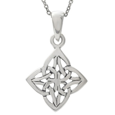"Women's Journee Collection Celtic Diamond Pendant Necklace in Sterling Silver - Silver (18"") - image 1 of 2"