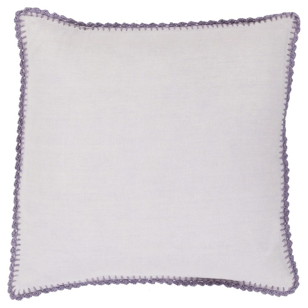 Lavender (Purple) Velletri Throw Pillow 22