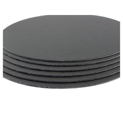 "Fredrix Value Series Cut Edge Canvas Panels, Black, 12"" Round - 6pk"