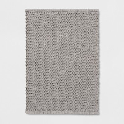 Textured Bath Mat Seagull Gray - Threshold™