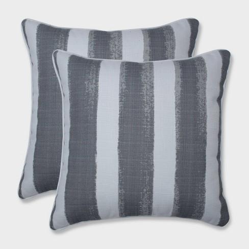 "16.5"" 2pk Nico Sea Salt Throw Pillows Gray - Pillow Perfect - image 1 of 1"