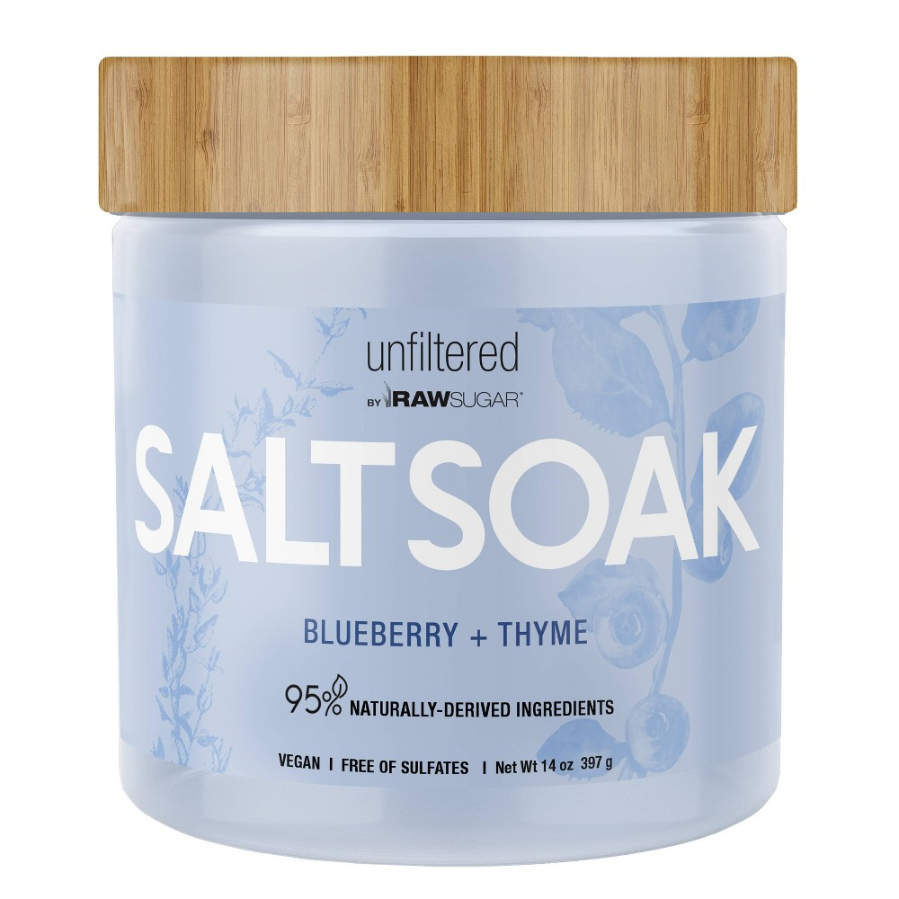 Image of Unfiltered By Raw Sugar Blueberry and Thyme Salt Soak - 14oz