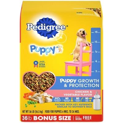 Pedigree Puppy Chicken Dry Dog Food Bonus Bag - 36lb