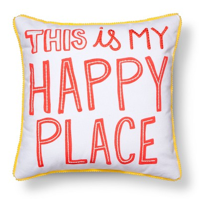 Happy Place Throw Pillow - 17 x17  - Pillowfort™