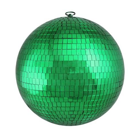 Northlight 12 Mirrored Glass Disco Ball Christmas Ornament Green