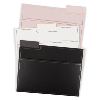 U Brands 6ct File Folders Letter Size - Classic Foil