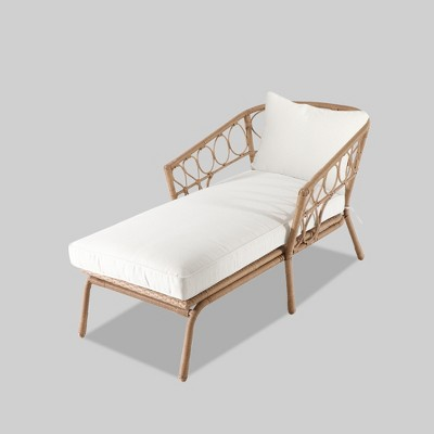 Britanna Patio Chaise Lounge Natural/Linen   Opalhouse by Opalhouse