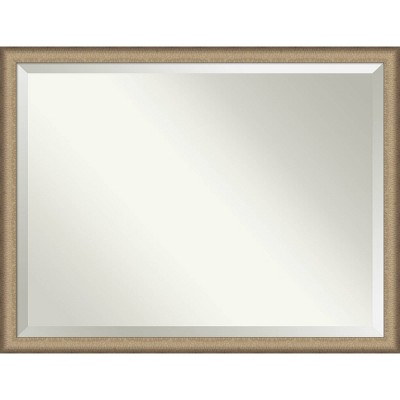 "43"" x 33"" Elegant Brushed Framed Bathroom Vanity Wall Mirror Bronze - Amanti Art"