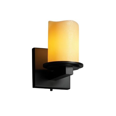 Justice Design Group CNDL-8771-14-AMBR CandleAria 1 Light Bathroom Sconce - image 1 of 1