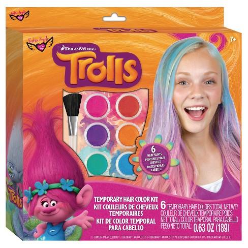 Trolls Temporary Hair Color Kit : Target