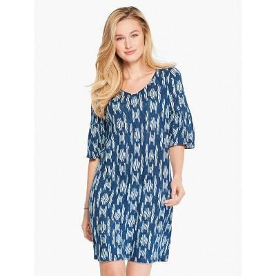 NIC+ZOE Women's Indigo Waves Dress Blue Multi