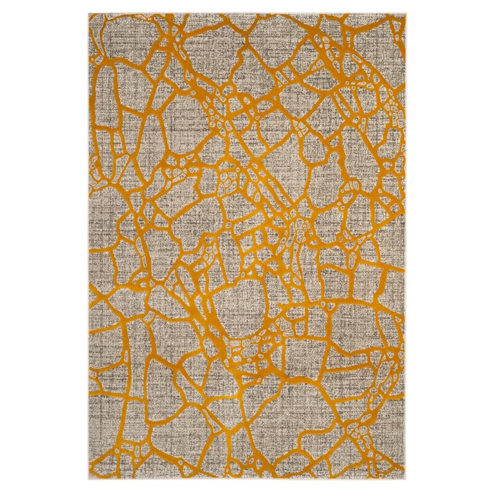 Light Gray/Yellow Pebble Loomed Area Rug 8'2X11' - Safavieh, Light Graynyellow