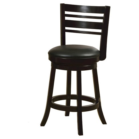 "ioHomes Marissa Padded Leatherette Swivel Counter Stool - Espresso (25"") - image 1 of 3"