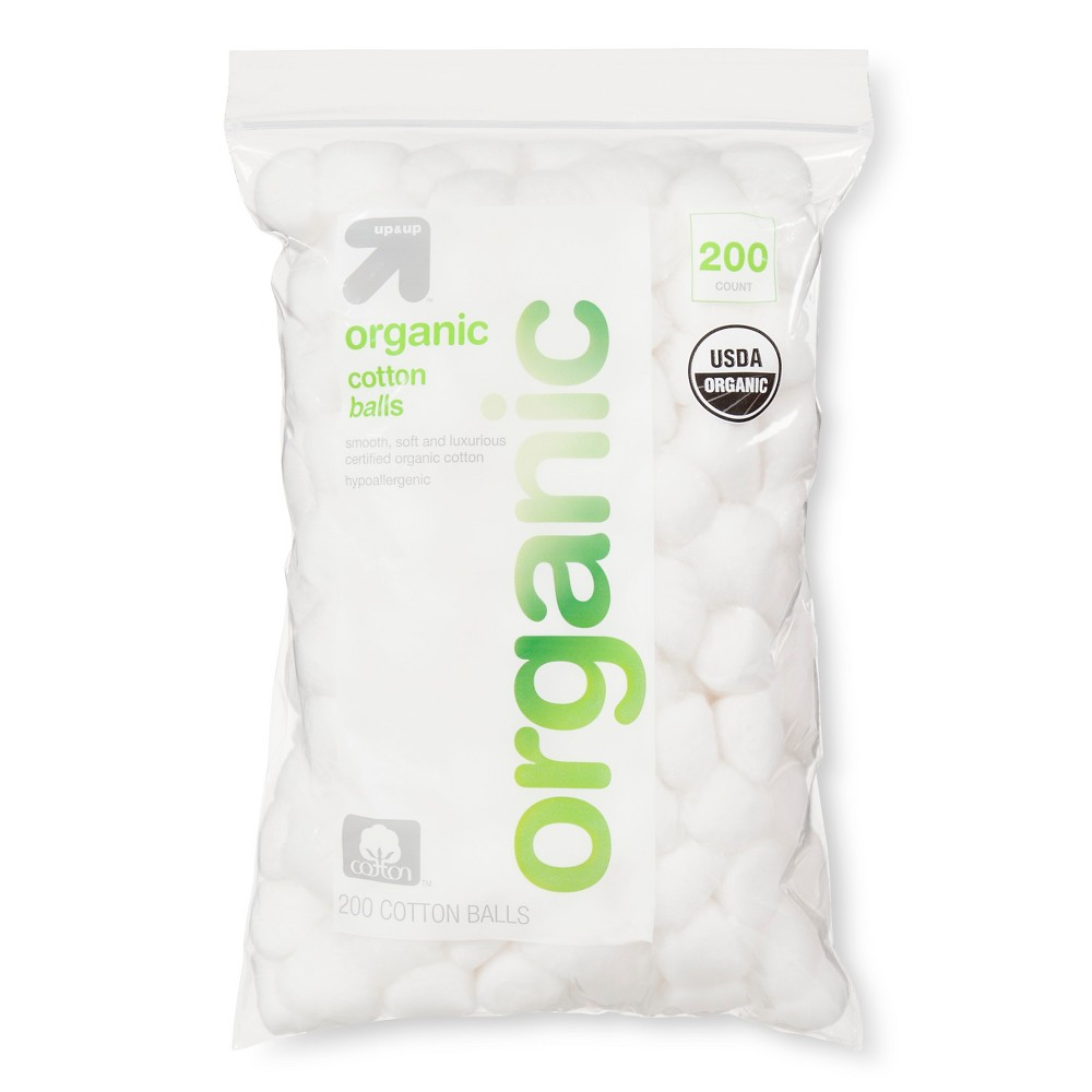 Image of Organic Cotton Balls - 200ct - Up&Up