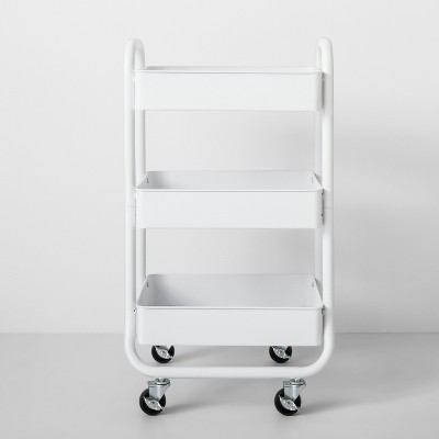 3 Tier Metal Utility Cart White - Made By Design™