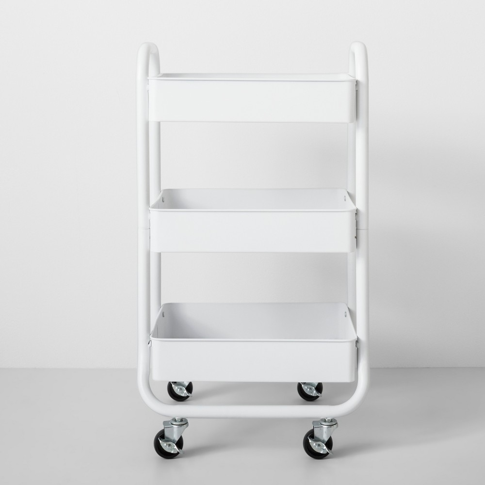 Three Tier Metal Utility Cart White - Made By Design