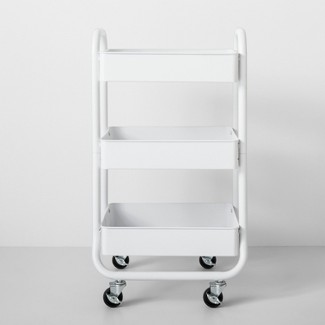Three Tier Metal Utility Cart White - Made By Design™