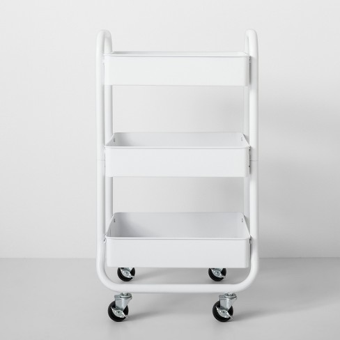 3 Tier Metal Utility Cart White - Made By Design™ - image 1 of 4