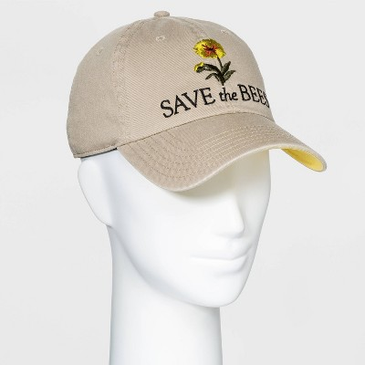 Smithsonian Women's Save the Bees Baseball Hat - Beige One Size
