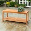 Acacia Wood Patio Coffee Table - Saracina Home - image 3 of 5