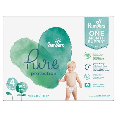 Pampers Pure Disposable Diapers One Month Supply - Size 4 (150ct)