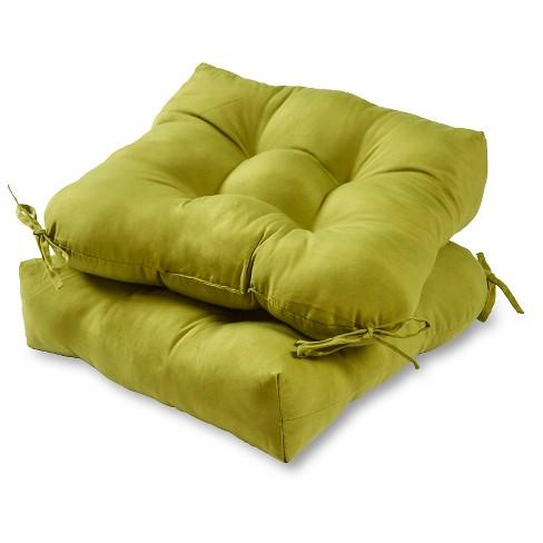 Set of 2 Solid Outdoor Seat Cushions - Kensington Garden - image 1 of 4