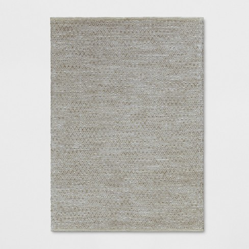 Cotton Chenille Jute Solid Woven Rug Threshold