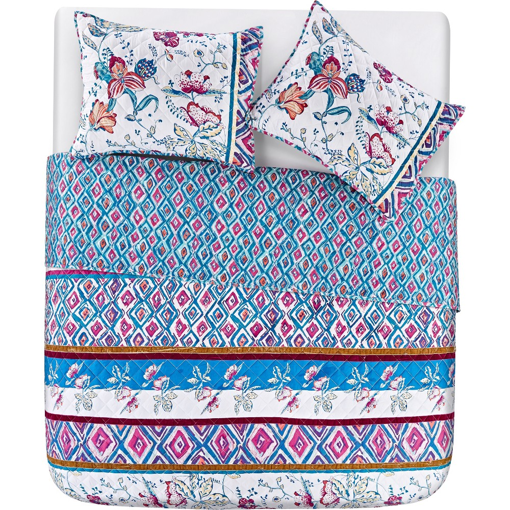 2pc Twin Floral Spell Quilt Set - Vcny Home, Multicolored