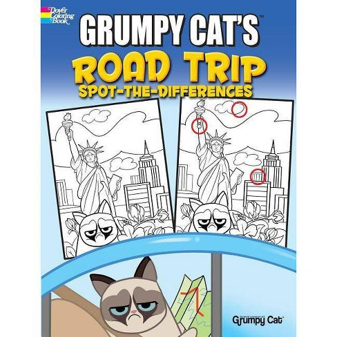 Grumpy Cat's Road Trip Spot-The-Differences - by  John Kurtz (Paperback) - image 1 of 1