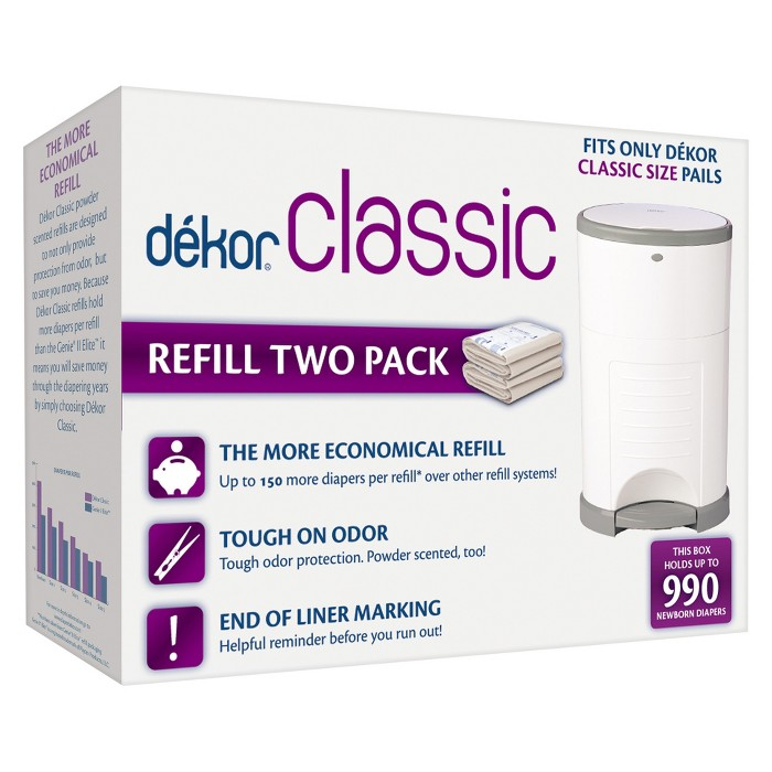 Dekor Classic Diaper Pail Refills - 2pk - image 1 of 4