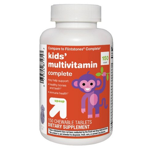 Kids' Complete Multivitamin Chewable Tablets - Orange, Grape & Cherry - 150ct - Up&Up™ - image 1 of 3