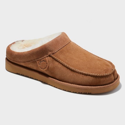 Men's dluxe by dearfoams Lith Loafer Slippers - Chestnut - image 1 of 4