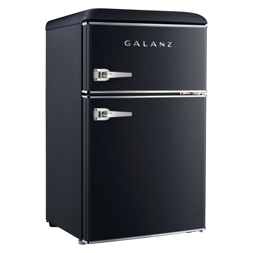 Galanz 3.1 cu ft Retro Mini Fridge - Black GL31BKE