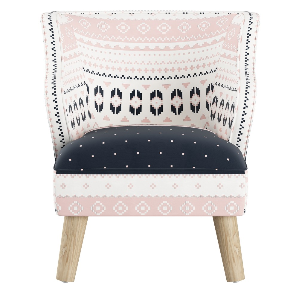 Kids Modern Chair Nordic Sweater Navy Blush - Skyline Furniture