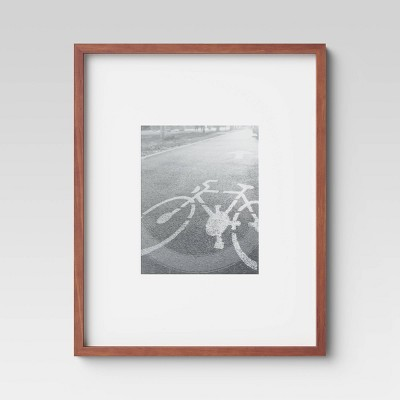 "16"" x 20"" Matted to 8"" x 10"" Mid Tone Single Image Picture Frame Brown - Project 62™"