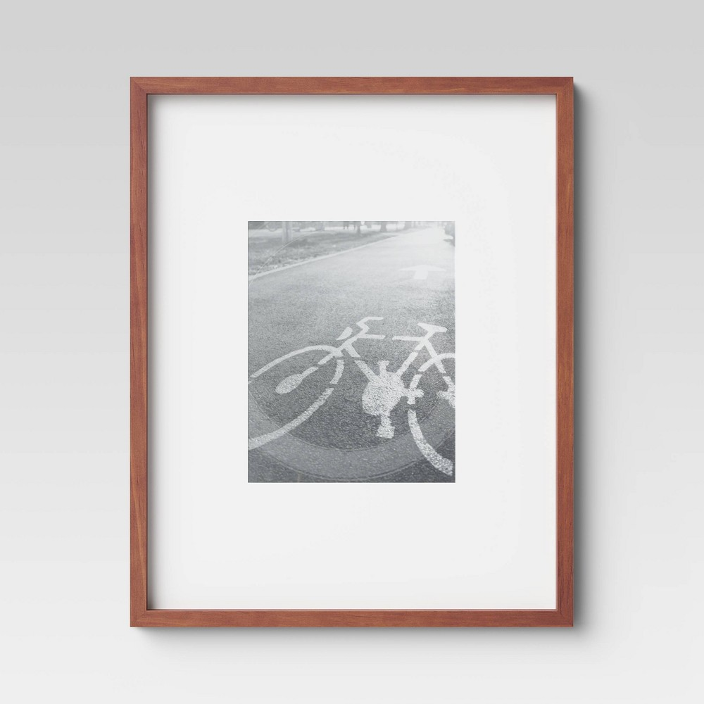 "Image of ""16"""" x 20"""" Matted to 8"""" x 10"""" Mid Tone Single Image Picture Frame Brown - Project 62"""