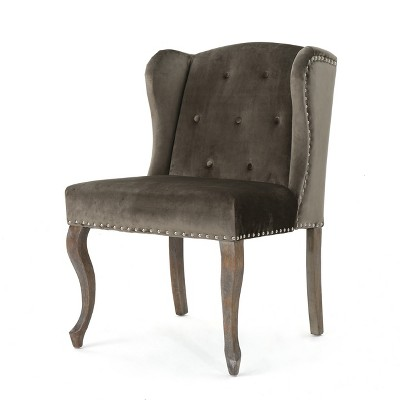 Niclas New Velvet Accent Chair - Gray - Christopher Knight Home