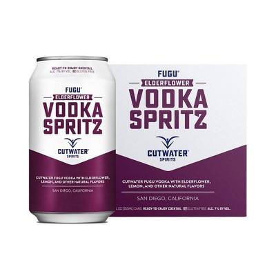 Cutwater Elderflower Vodka Spritz Cocktail - 4pk/12 fl oz Cans
