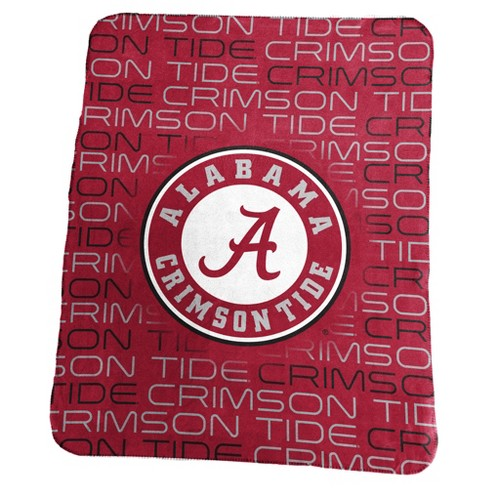 b313c8d177fc0 NCAA Alabama Crimson Tide Logo Brands Classic Fleece Throw Blanket ...