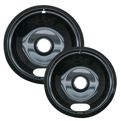 Range Kleen 2pc Porcelain Style A Drip Bowls Black